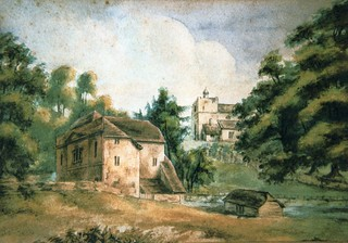 Jefferies Mill with Holy Rood Church by John Luckett Jefferies