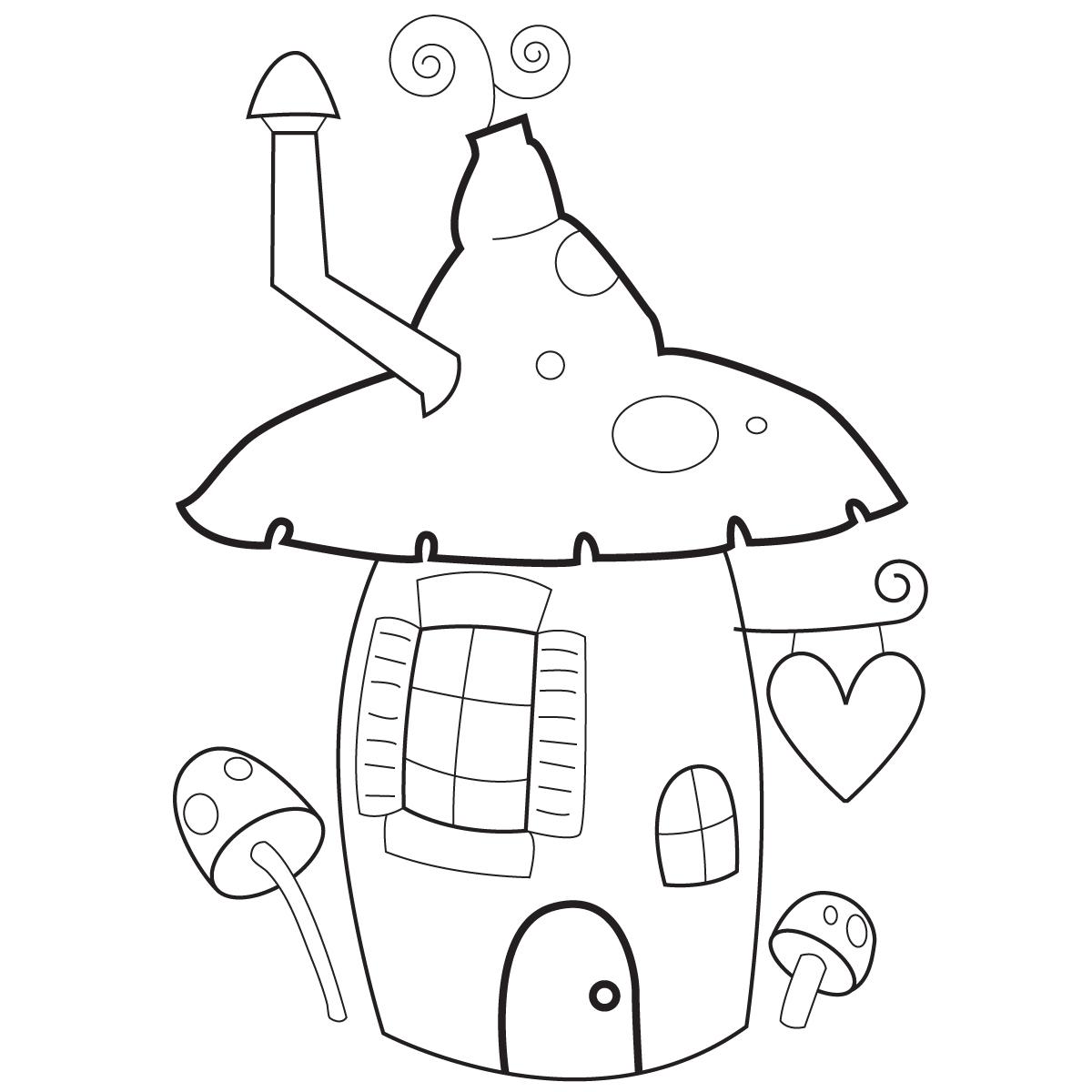 mushroom shaped pixie house