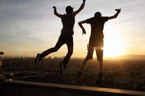 california friends sky love boys landscape high jump couple cityscape view dusk longbeach signalhillca