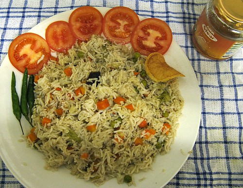 Vegetable Pulavu /vegetable rice by {deepapraveen very busy with work..back soon