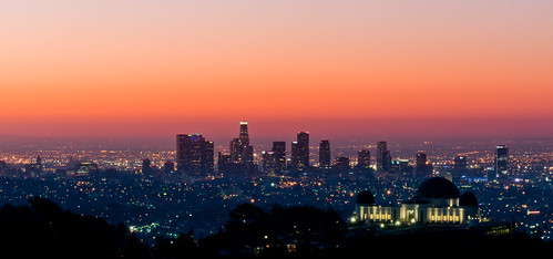 dawn lights griffithparkobservatory cool1
