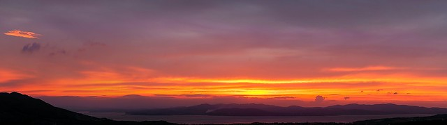 Lough Swilly Sunset Panorama