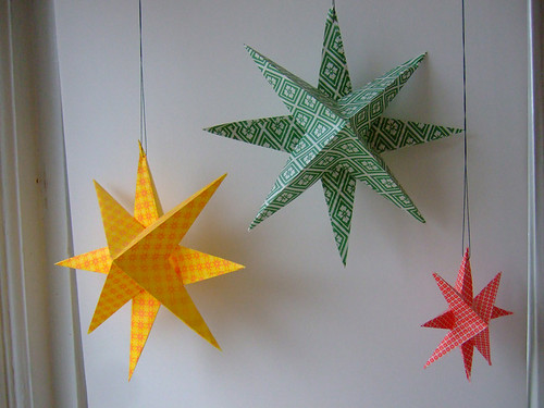 Tutorial super simple paper stars annekata for 3d star decoration
