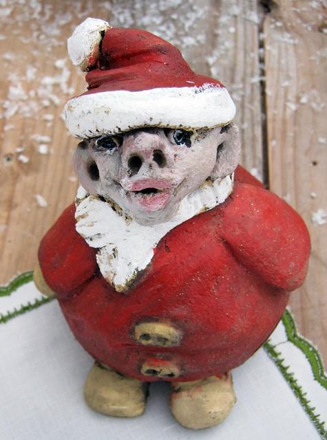 A rather ugly Santa   At the Christmas market at Stavhäll ...