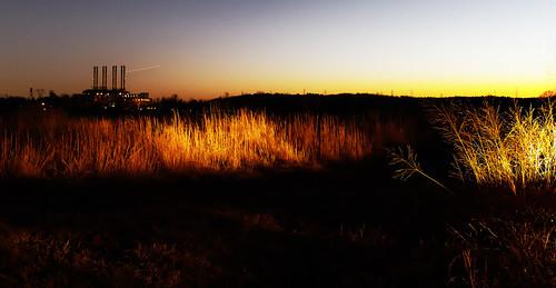 sunset landscape headlights dxo canoneos7d