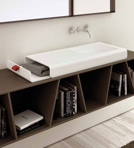 New Inspiration: Bathroom Sink With Integrated Storage Compartment   Split by Planit