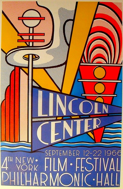 1966 vintage poster lincoln center by roy lichtenstein for Poster roy lichtenstein