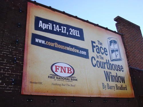 The Face in the Courthouse Window Sign (Carrollton, Alabama)