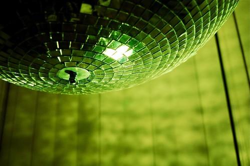 green disco ball