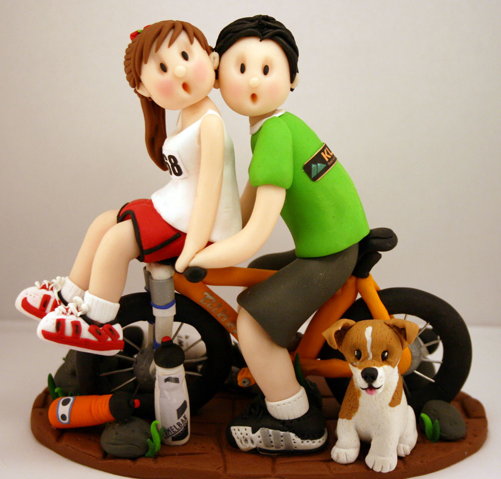 Mountain Bike Wedding Cake Topper