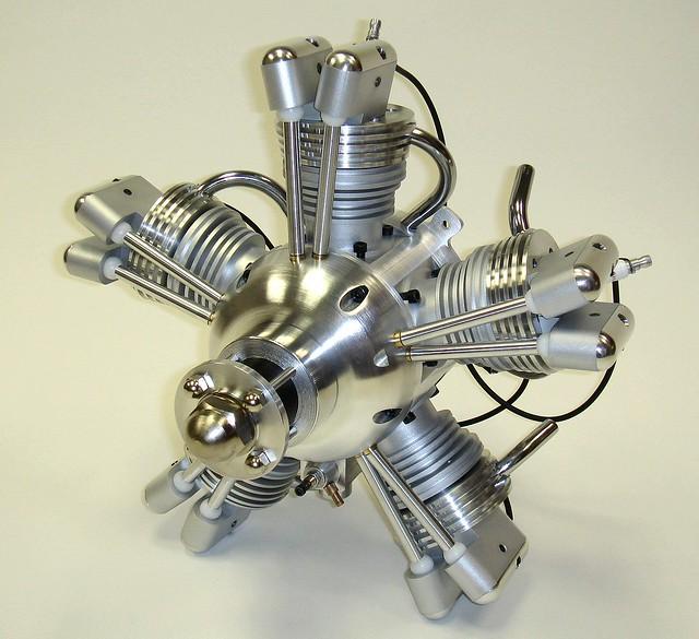 Technopower 5 Cylinder Radial Engine Prototype, Designed ...
