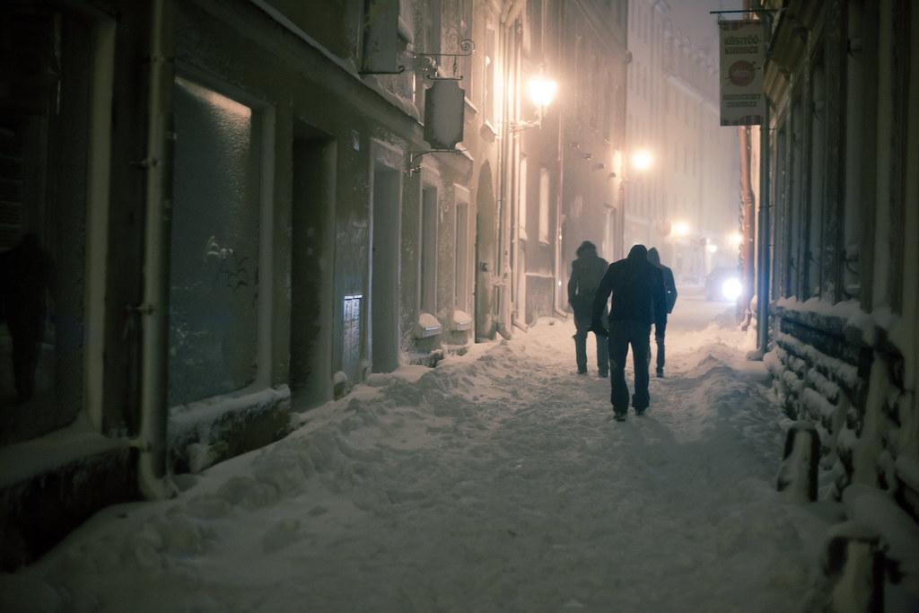 Winter Night in Tallinn