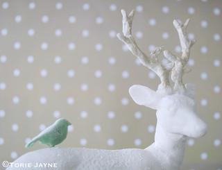 Petal paste reindeer