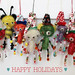 mini mohair bear holiday ornaments