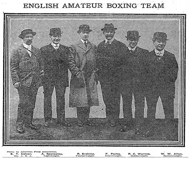 Amateur Boxing Association of England boxing team in the United States in ...