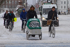 Snowstorm Crowd 02 - Winter Cycling in Copenhagen