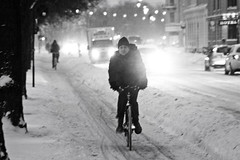 Snowstorm Evening - Winter Cycling in Copenhagen