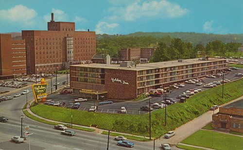 vintage downtown knoxville tennessee postcard aerialview holidayinn chapmanhighway