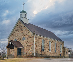 Saint Maurus Church, in Biehle, Missouri, USA - exterior