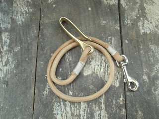 Solid cord rein with brass hook