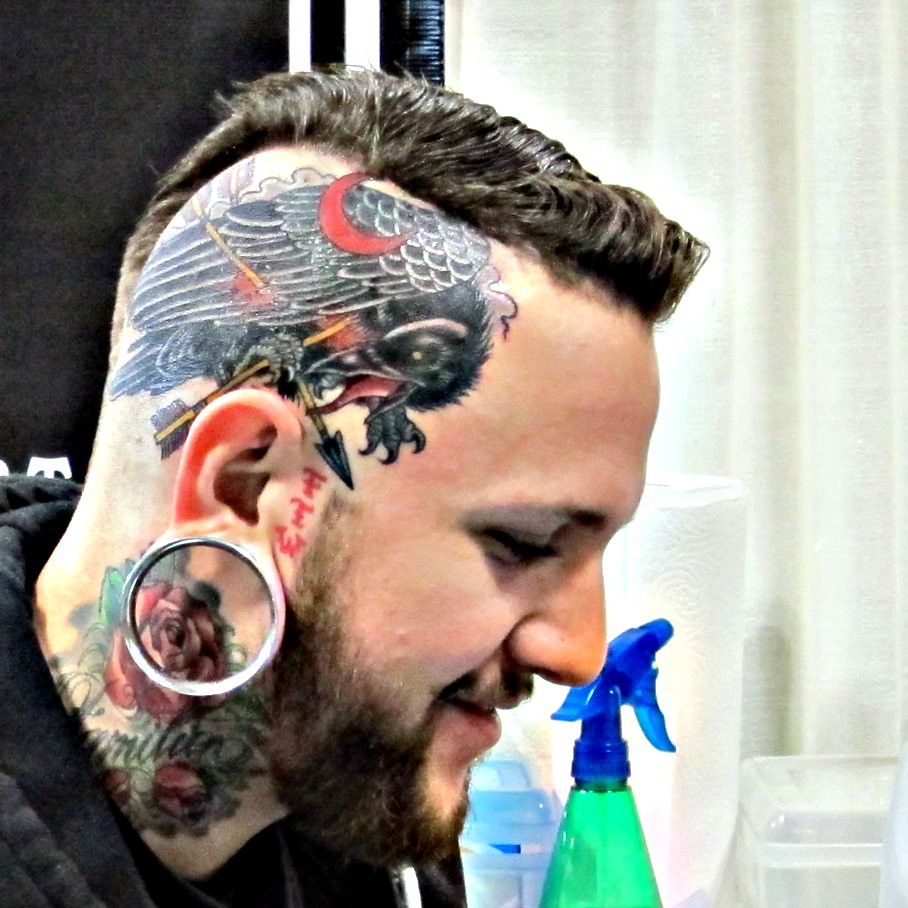 New Head Tattoo by Derek Noble at Star of Texas Tattoo Art