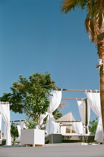 Immagine di Varkiza Beach (Παραλία Βάρκιζας) Beach of Varkiza vicino a Vári. trees sea sky sun holiday film beach sand chairs superia athens greece seats covers 2010 nikonf80 fujisuperia vari vouliagmeni varibeach fb:uploaded=true nikkor85mmf18afd fb:request=true vouliagmenibeach athensbeach fourposterchair