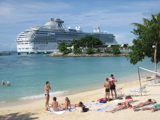 The Coral Princess in Ocho Rios, Jamaica