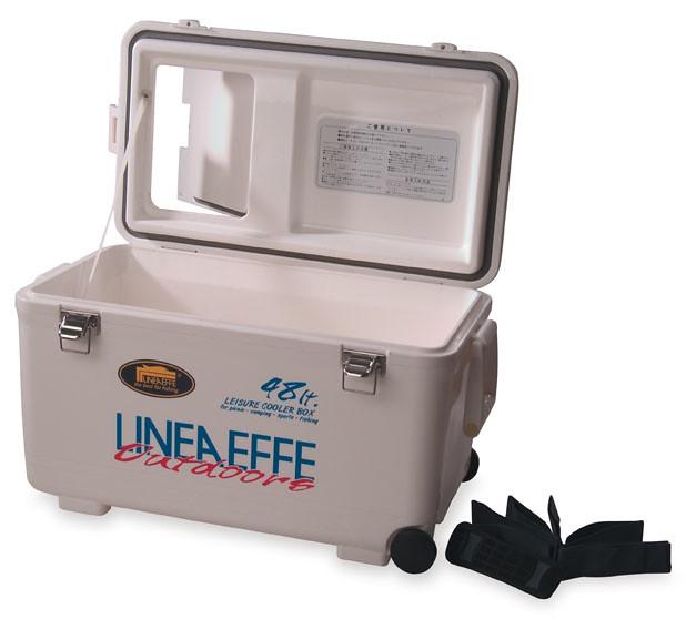 Frigo cooler 48 litri da pesca per esche campeggio porta for Contenitore per pesci