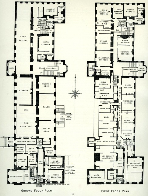 Plan of rufford abbey nottinghamshire 1938 flickr for Servant quarters designs