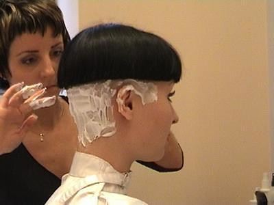 Cut hair nape shaved womens