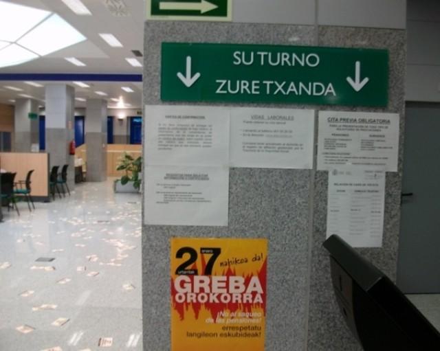 Concentraci n y ocupaci n en barakaldo oficinas seguridad for Oficina seguridad social granada