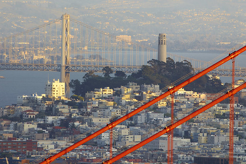 Coit Tower with Cables - San Francisco, California