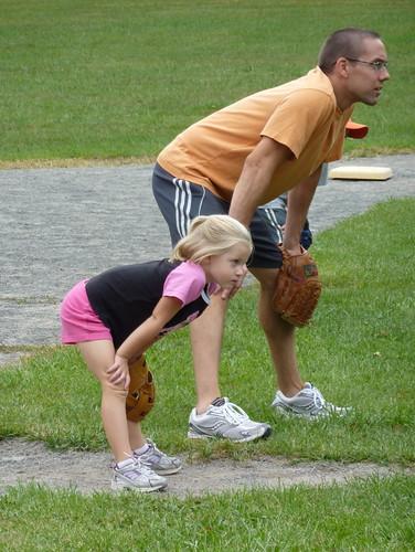 Hannah at Baseball Practice