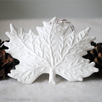 White Leaf Ornament