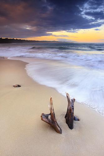 wood red orange sun colour sol beach water clouds sunrise canon landscape flow sand agua costarica soft playa arena amanecer lee 400 nd caribbean grad 1740 manzanillo hoya slowwater ndx 5dmarkii 5d2
