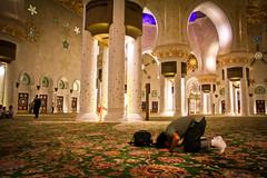 Prostrating inside Sheikh Zayed