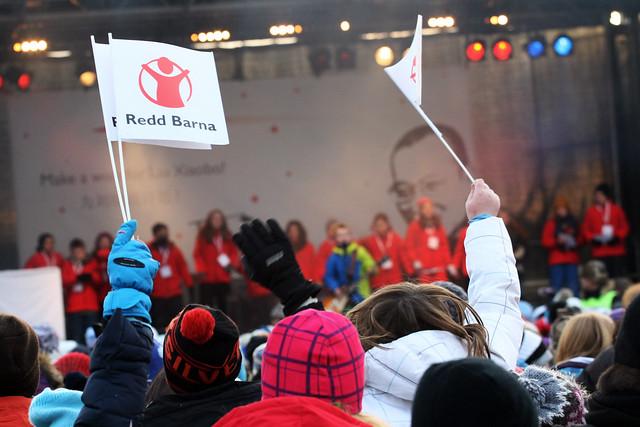Oslos barn er et entusiastisk publikum på Barnas Fredsprisfest