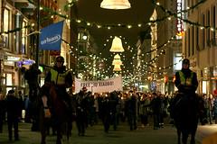 Fakkeltoget går vanligvis fra Youngstorget til Grand Hotel via Karl Johans gate.