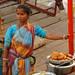 Street Food Vendor Along the Ghats - Varanasi, India