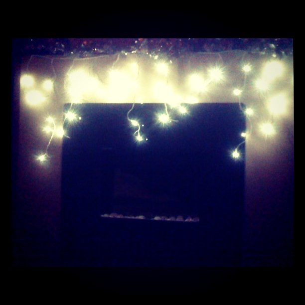 Fireplace with fairy lights flickr photo sharing - Lights Over Fireplace Flickr Photo Sharing