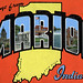 Greetings from Marion, Indiana - Large Letter Postcard by Shook Photos