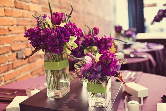 Purple and green collection centerpiece flickr photo