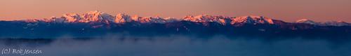 panorama usa sunrise landscape washington whidbeyisland mountians olympicmountains maxwelton snocapped