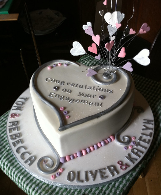 Heart Double Engagement Cake! Flickr - Photo Sharing!