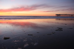 Pacific Beach Pier at sunset