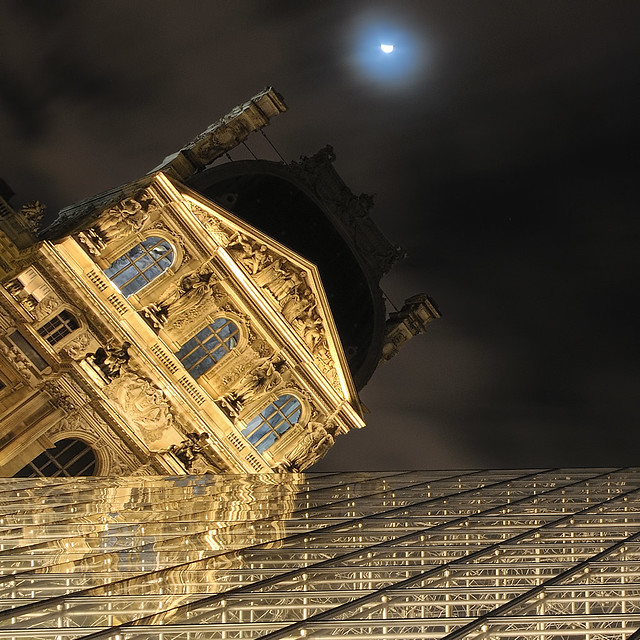 Angle to the Louvre Museum