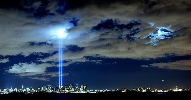 9-11 Memorial Lights, by David Hanschuh