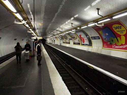 Metro station Louis Blanc: Paris: September 2010 v6