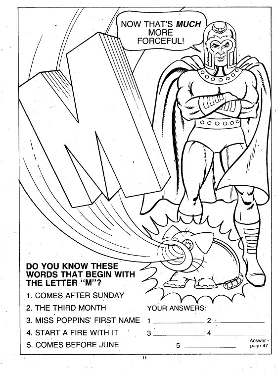 X-Men Super Activity Book00012