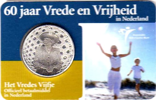 Coincard 2005 € 5 Vredesmunt